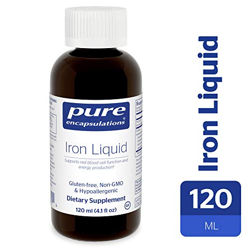 Pure Encapsulations - Iron Liquid - Hypoallergenic Supplement Supports Hemoglobin and Myoglobin Function* - 120 ml.