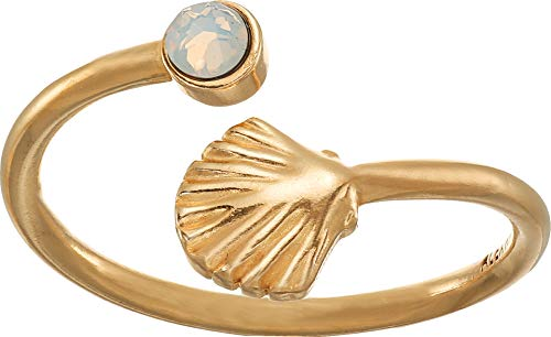 Alex and Ani Ring Wrap, Shell, 14k Gold Plated Stackable Ring, Size - Shell Gold Ring