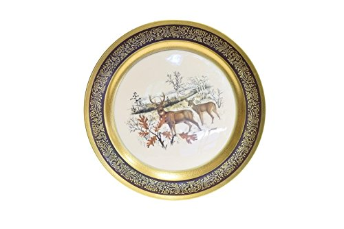 (Pickard China Collector Plate Lockhart White Tailed Deer 147/2000)