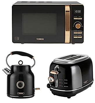 Kitchen Tower Rose Gold Black Electrical Appliance Retro