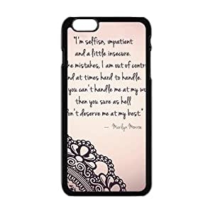 JIUJIU Marilyn Monroe Quote Phone Case for Iphone 6 Plus