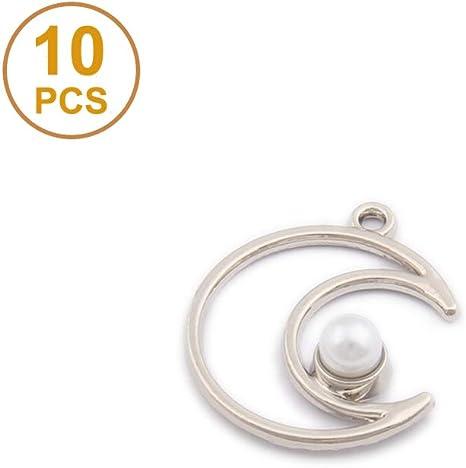 10pcs Wholesale Crafts Crescent Moon Sun Charm Pendant Jewelry Findings DIY