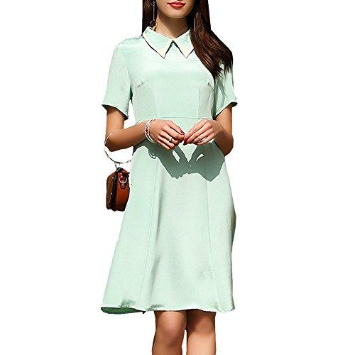 Women Long Plus Navy Cocktail Dress Silk Knee Sleeveless Blue Summer DISSA Vintage S9979 Size 5gqHXAwx