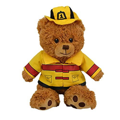 CustomizedbyBilgin Limited Edition Plush Toys in Duty! Policeman, Fireman, Chef, Soldier, Handyman Bear and Cute Dog Amazing Gift for Kids and Adults (Fireman Bear)