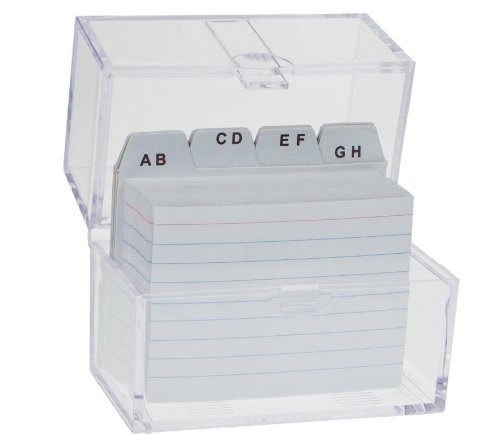 incluse 100 schede e indice dalla A alla Z Schedario in formato DIN A8