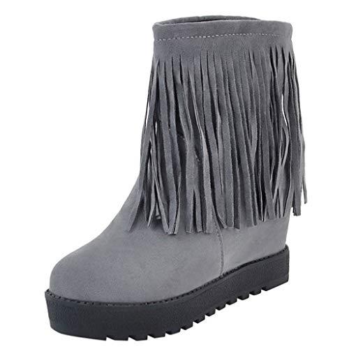 f06b32b8f90 De Bottes Kaiki Bout Pointu femmes Rond Chaussures Et Rond Neige Glands  Avec Femme Plates bottes ...