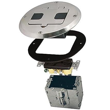 HUBBELL 6239NI NICKEL FLOOR BOX KIT Finish - Electrical Boxes - Amazon.com