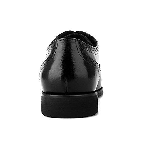 e4d27b19d8558 ... Cuir Brogues Vintage Dentelle Ups Hommes Bout Pointu Chaussures  Uniformes Oxford Mariage Soirée D affaires ...
