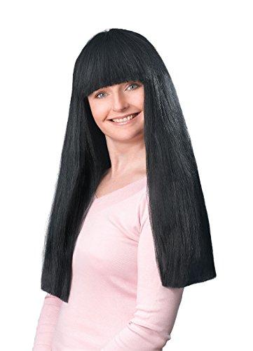 Bristol Novelty BW212 Fringe Wig Budget, Black, One Size -