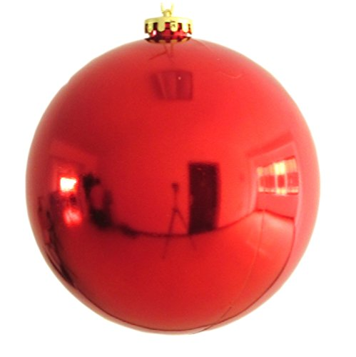 30cm Large Christmas Ball Christmas Shiny Balls Large Christmas Balls Ornaments (Red) (Outdoor Tree Ornaments Balls)