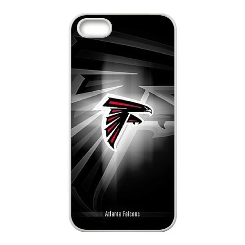 Atlanta Falcons Team Logo coque iPhone 5 5S Housse Blanc téléphone portable couverture de cas coque EBDOBCKCO14370