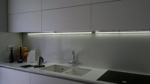 BARRA LED 100CM LUCE CALDA 3000K INTERRUTTORE TOUCH BASE MAGNETICA ...