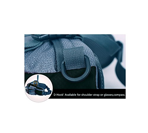 Base multifuncional Nylon impermeable pedacito Simple riñonera de cintura Correas de cintura ciclismo senderismo paquetes Negro All Black Talla:talla única Negro - All Black