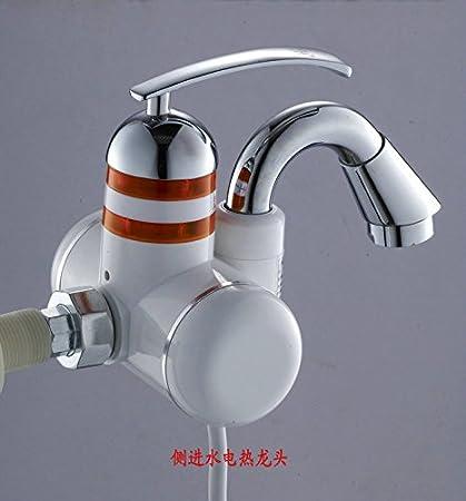 CZOOR Grifo de agua caliente eléctrica instantánea, lavabo, fregadero, Calor rápido doble propósito