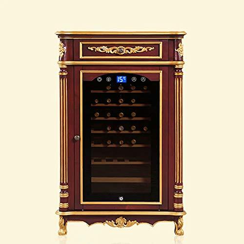 Wine Refrigerator Cooler-Wine Cellar Single Door Small Control Storage Solid wood Refrigerated wine cooler Constant…