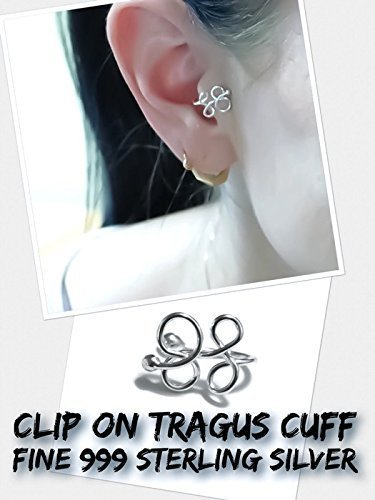Butterfly Tragus Ear Cuff Clip On Adjustable One Size Fits All 999 Fine Sterling Silver