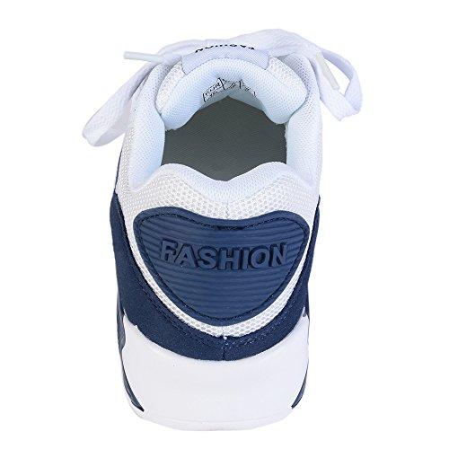 Couple Gym Printemps Respirantes Running Blanc Homme Pour Automne Fitness Chaussures Course Femme Outdoor De Shoes Bleu Dihope Sneakers Baskets Sport wng6Y076T