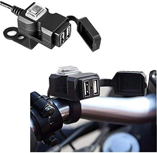 Amazon.com: Tingrua Cargador USB para motocicleta, 12 V ...