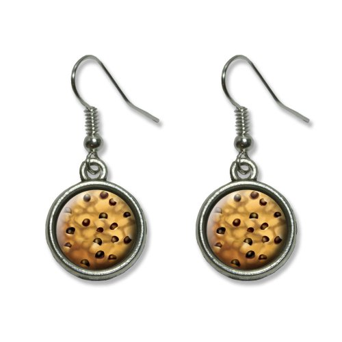Chocolate Chip Cookie Novelty Dangling Dangle Drop Charm Earrings
