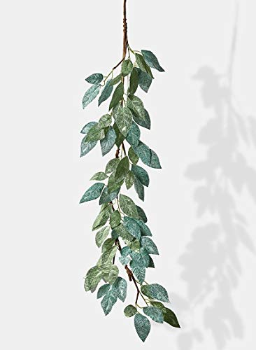 - Serene Spaces Living 48in Decorative Velvet-Look Green Leaf Garland, Ornament for Holiday Decor