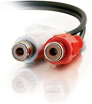 C2G 40468 Value Series RCA Stereo Audio Extension Cable Black 6 Feet 182 Meters
