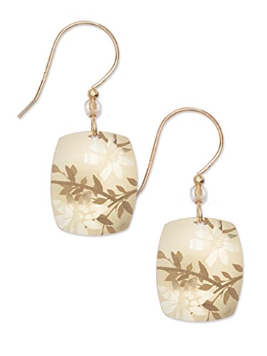 Gold Meadow Floral Earrings for Women and Girls, Hypoallergenic Dangle Jewelry with Bead for Formal and Everyday Wear, Bohemian Glass Fashion Jewelry - Holly Yashi