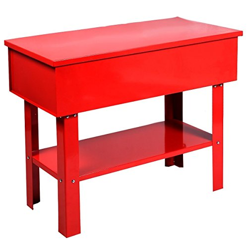 Globe House Products GHP 43''x21''x35'' 40-Gallon Tank Capacity Red Steel 5.28GPM Fusible Link Parts Washer by Globe House Products (Image #2)
