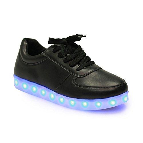 La Modeuse-zapatillas con plataforma para luces LED, Negro (negro), 39: Amazon.es: Zapatos y complementos