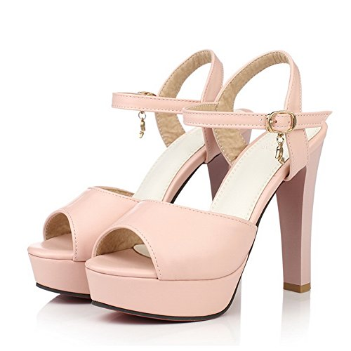 1TO9 Ladies Solid Classic Engagement Polyurethane Sandals Pink snO0l6Nw