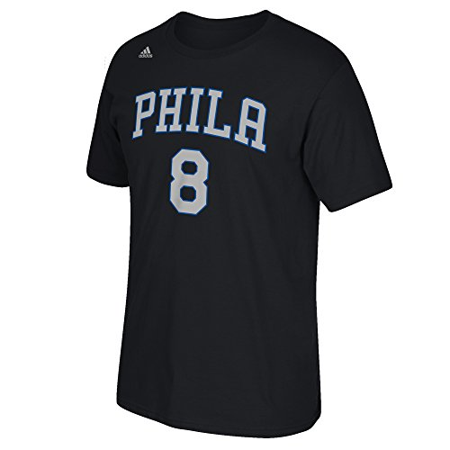 NBA Philadelphia 76ers Jahlil Okafor #8 Men's Game Time Short Sleeve Go-To Tee, X-Large, Black