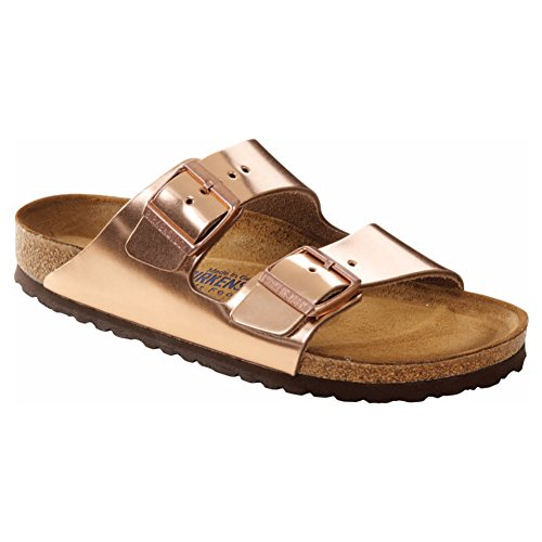 Birkenstock Arizona, Unisex-Adults Sandalias Arizona SFB Metallic Copper