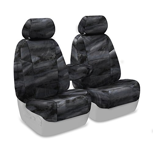 Coverking Custom Fit Front 50/50 Bucket Seat Cover for Select Lincoln Town Car Models - Cordura/Ballistic A-TACS Camo (Law Enforcement) ()