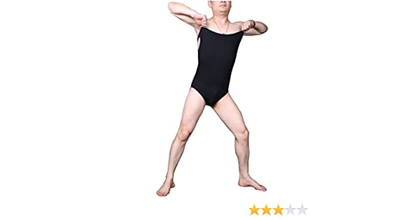 LinvMe Mens Cotton Stretchy Tank Bodysuit Sleeveless Leotard