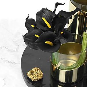 Veryhome 20pcs Lifelike Artificial Calla Lily Flowers for DIY Bridal Wedding Bouquet Centerpieces Home Decor 3