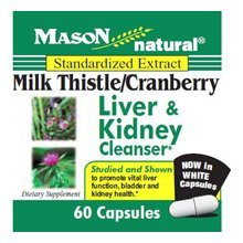 Mason Natural Milk Thistle and Cranberry Capsules, Liver and