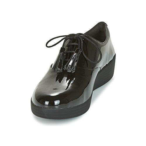 Superoxford Noir Pompon Fitflop Classique Chaussures Chaussures Superoxford Verni Fitflop Pompon waRqgF