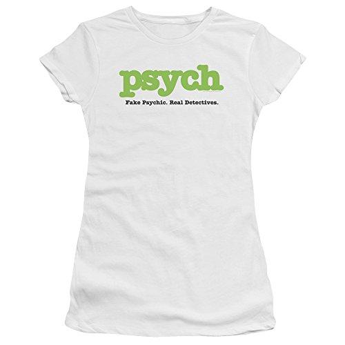 Psych Detective Comedy Drama TV Series USA Title Juniors Sheer T-Shirt Tee White