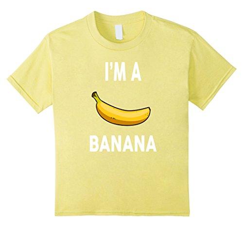 Halloween Costumes Banana (Kids I'm a banana T-Shirt - Halloween Banana Costume Shirt 10 Lemon)