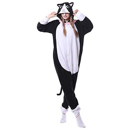 Calgary Costumes Kids (Utosi Cute Unisex Winter Cartoon Animal Black Cat Shaped Warm Conjoined)