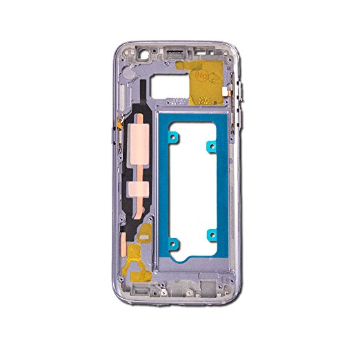 Midframe Housing Assembly Compatible with Samsung Galaxy S7 (G930A, G930T) (White Pearl) (SM-G930A, ()