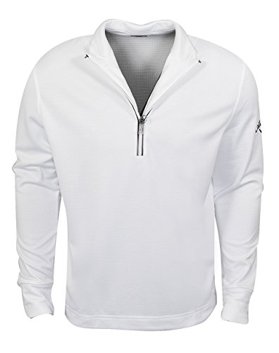 Callaway Golf- Waffle Fleece 1/4 Zip Layer, Bright White, XX-Large ()
