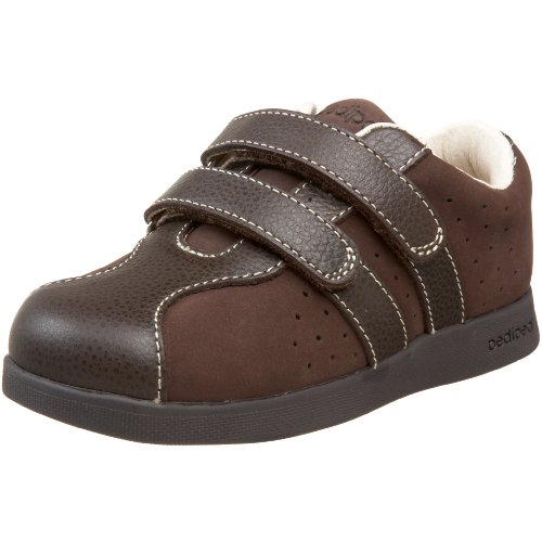 pediped Flex Sebastian Sneaker (Toddler/Little Kid),Chocolate Brown,20 EU (5 M US -