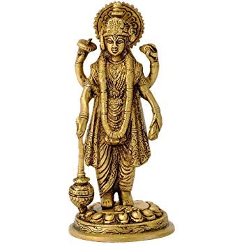 23f1288c0c8 Buy Astadhatu (8 Metals) Made Shri Narayan Idol Shri Maha Vishnu Brass Idol  Brass Made Chaturbhuj Vishnu Idol Lakshmi Narayan Idol - Vrindavan (10)  Online ...