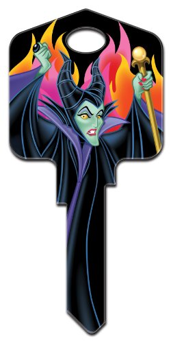 Disney House Key - Disney Maleficent Kwikset KW1 House Key New