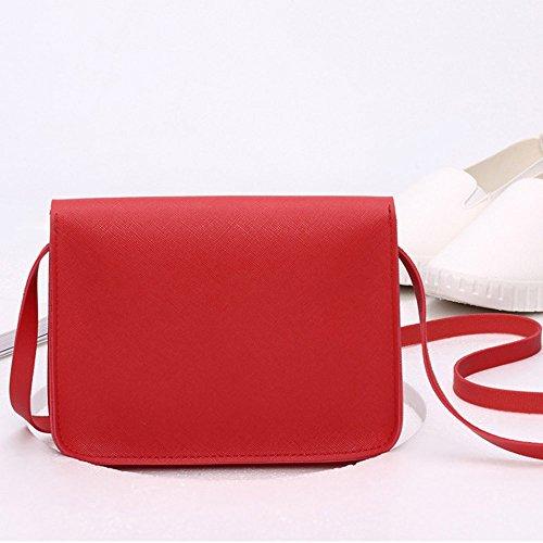 Crossbody Red Women Shoulder Mini Leather Fashion ZOMUSA Messenger Clearance Bag Handbag EqxvwY4AT