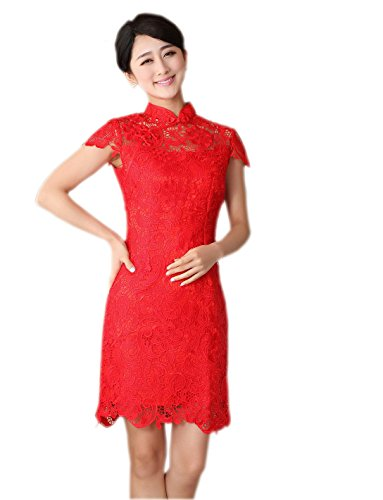jtc-women-cheongsam-style-lace-chinese-dress-cup-sleeve-red-4-6