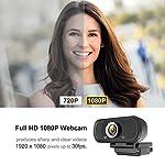 Hrayzan Webcam 1080PHD Webcam with MicrophonePC Laptop Desktop USB Webcams wide view angle