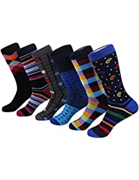 7e18ec36d1d Marino Mens Dress Socks - Fun Colorful Socks for Men - Cotton Funky Socks -  6