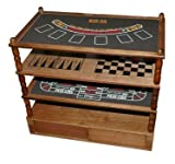 9 in 1 Game Table with Blackjack/Craps/Roulette, & Tic Tac Toe