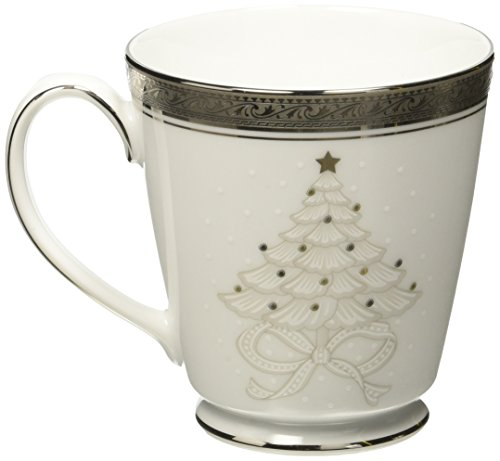 Noritake Crestwood Platinum Holiday Accent Mugs, Set of 4 ()